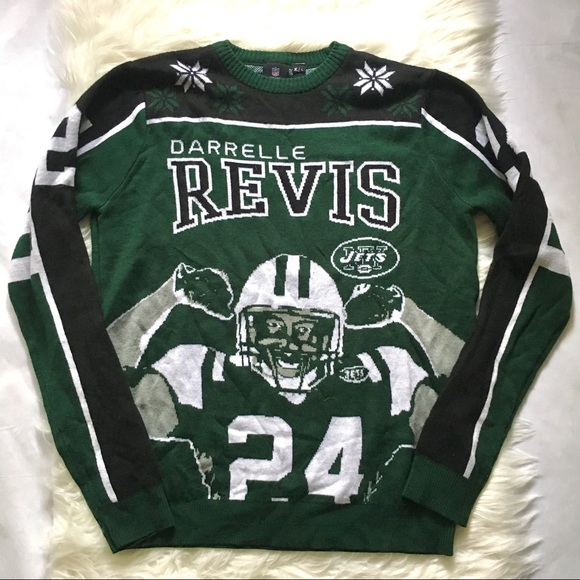 8c395511 NY Jets Darrelle Revis Ugly Sweater Large #24